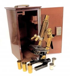 Beautiful Zeiss 1Va Triple Turret Microscope Outfit c1895 #6825