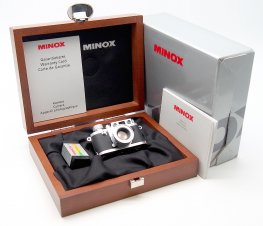 Minox 16mm Leica 111F Miniature, Chrome, Mint & Boxed #7465