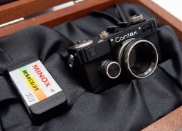 Minox 16mm Contax 1 Miniature, Black, Mint & Boxed #7467