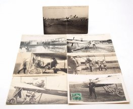 Set of Seven Early French Aviation Postcards #7690