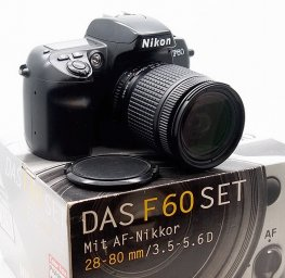 Nikon F60 Autofocus SLR with 28-80mm Nikkor Lens, Boxed #7764