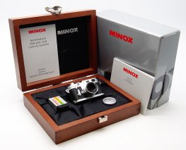 Minox 16mm Leica M3 Miniature, Chrome, Mint & Boxed #7469