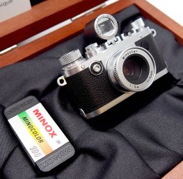 Minox 16mm Leica 1F Miniature, Chrome, Mint & Boxed #7466