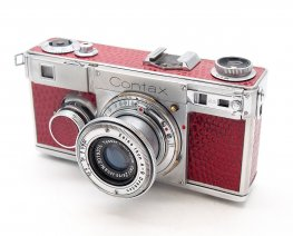 Contax 1 Attrappe with 5cm F2 Sonnar in Red Lizard Skin #7823