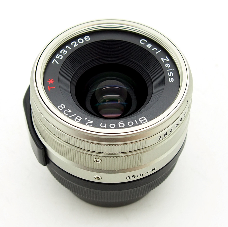 Zeiss 28mm F2.8 T* Biogon for Contax G with Hood #7156